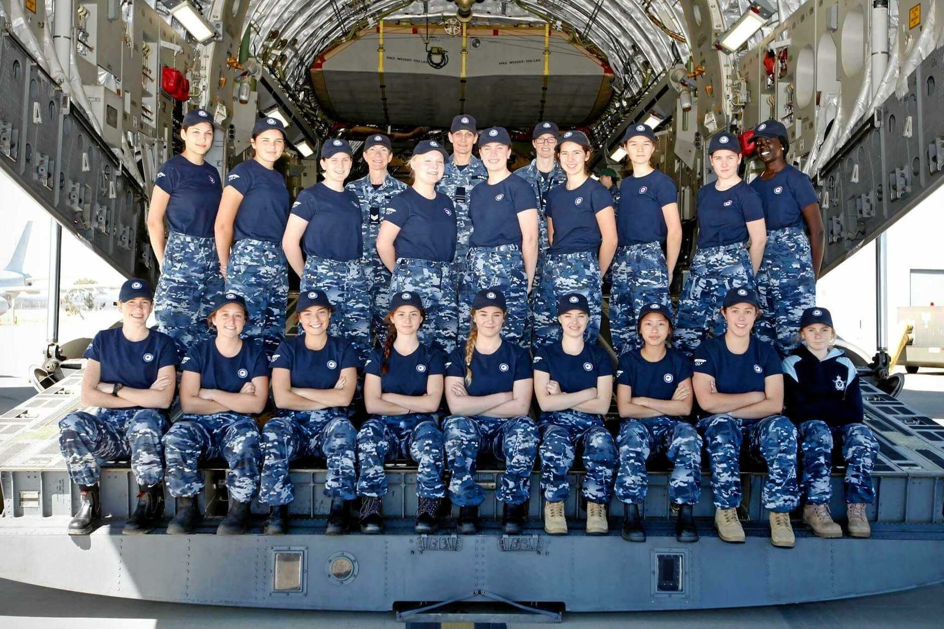 WOMEN IN ACTION: Sophie joined 17 other young women to get a taste of life with the air force.