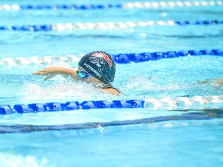 Pippa Kelly of Caribeae was among the 183 swimmers in action on Saturday.
