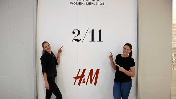 Christina and Brittany Miller are excited for H&M to finally open its door on Thursday.