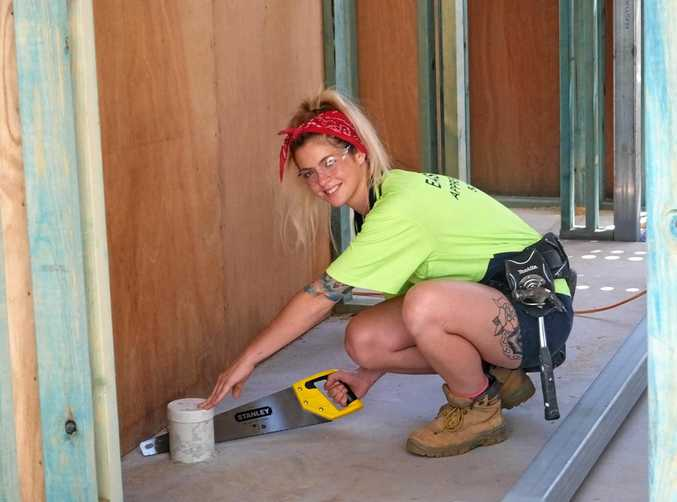 Former plumbing apprentice Chelsea Sala has taken time away from her trade but hopes to return to finish her training.