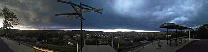 Kate Muskett shared this panorama shot of the storm rolling in.
