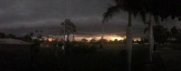 Fayleen Zemlicoff: Hail severe lightning and such loud thunder at Gracemere