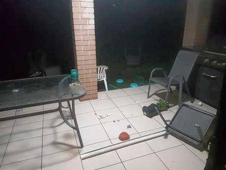 Amber McKenzie had two words after assessing the damage from last night's weather, 'thanks storm'.