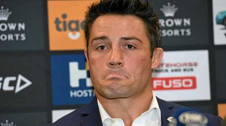 Cooper Cronk announcing his plan to leave Melbourne at the end of the 2017 season.