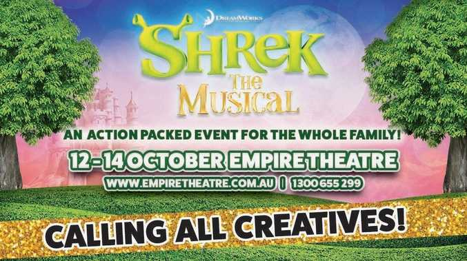 EXPRESSIONS OF INTEREST: The Toowoomba Philharmonic Society is seeking expressions of interest for its 2018 musical, Shrek the Musical.