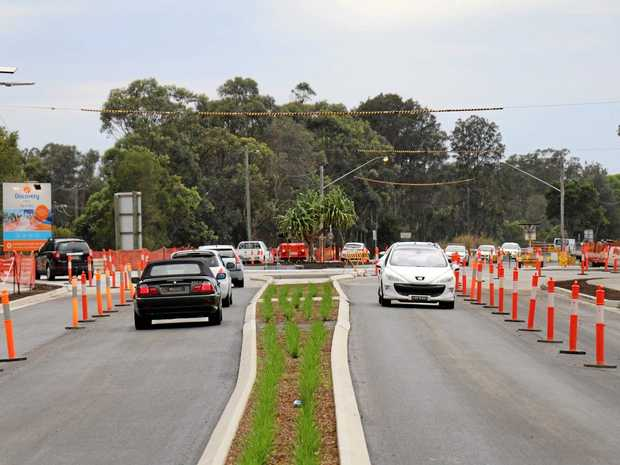 A $3.8m roundabout on Ewingsdale Road at Byron Bay has taken eight months to open.