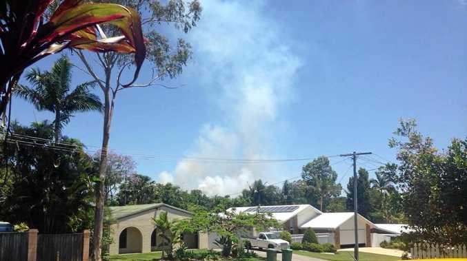 Bel Wicks sent in photos of smoke rising over Tewantin.