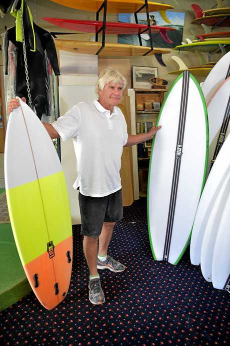 Local surf shop owner Bryan Weir reacts to the news that Aldi are selling surfboards and paddle boards.
