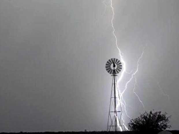 Lightning hitting the region.