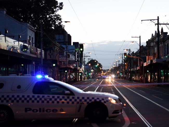 Victoria St is closed as police investigate. Picture: Nicole Garmston