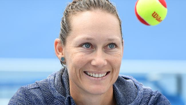 Sam Stosur took the change in her stride. (AAP Image/Julian Smith)