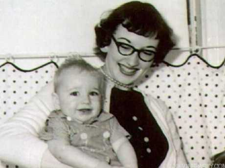 Kevin Spacey as a baby with mother Kathleen Fowler. Picture: Supplied