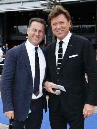 Karl Stefanovic and Richard Wilkins. Picture: Justin Lloyd.