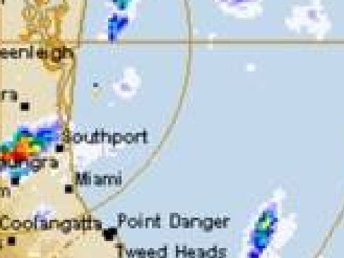 The weather radar at 7am. Picture: BoM