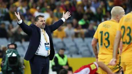 Ange Postecoglou remains cagey on his future as coach. Picture: Brett Costello