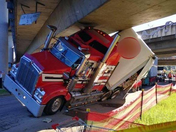Trucks have a long history of hitting bridges along the M1. Stock photo.