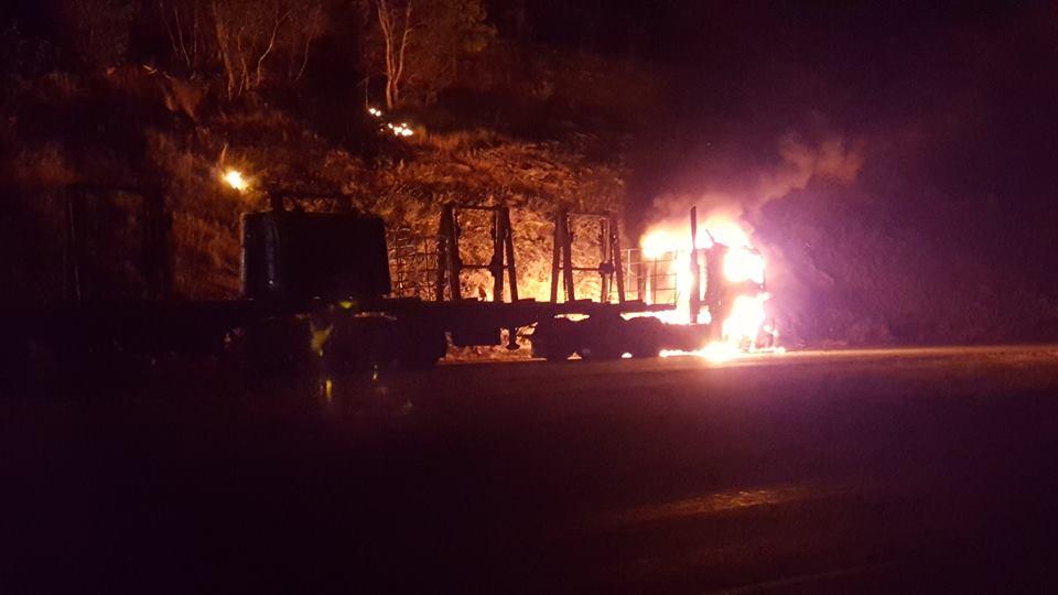 Kyeamba truck fire.