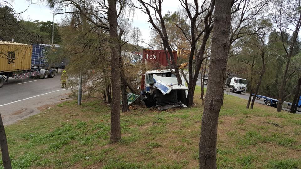 Truck crash Foreshore road.