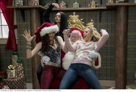 Mila Kunis, Kathryn Hahn and Kristen Bell in a scene from Bad Moms 2.