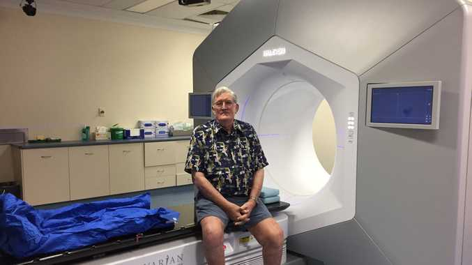 Dennis McNamara is the first person in Australia to be treated by the world's most innovative oncology machine.