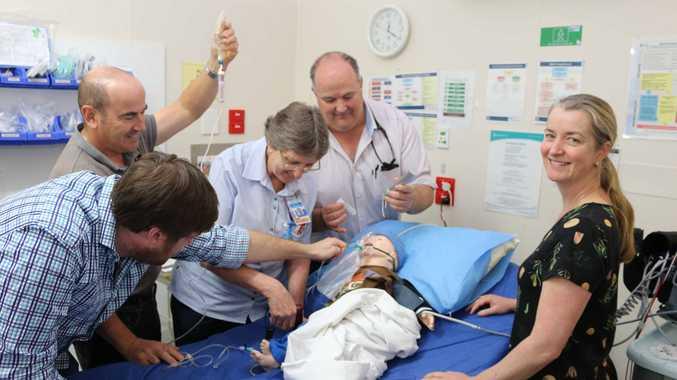 Dr Charlie Elliot, Toowoomba Hospital ED; Manuel Cordelro, QAS; Karen Wingett and Dr Luke Dwyer, Jandowae Hospital; and Dr Sheree Conroy, Toowoomba Hospital ED.