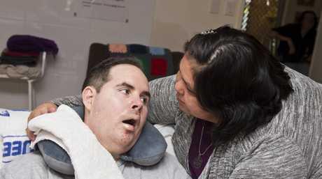 Christine and Shane Matveyeff. Shane lives with Locked-in Syndrome. Wednesday, 1st Nov, 2017.