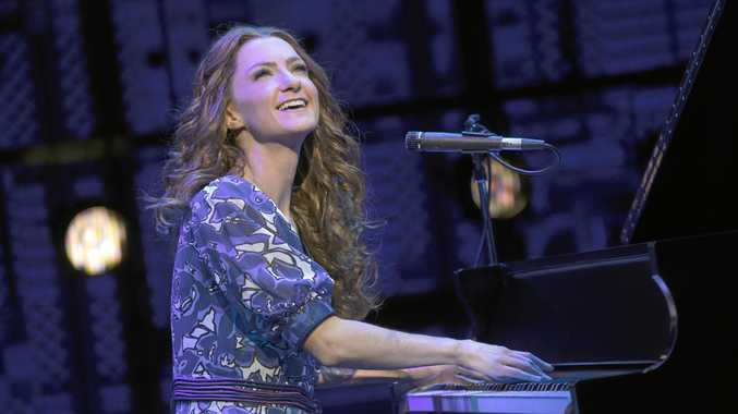 MAKING MUSICAL MEMORIES: Esther Hannaford (as Carole King) in a scene from  Beautiful - The Carole King Story .