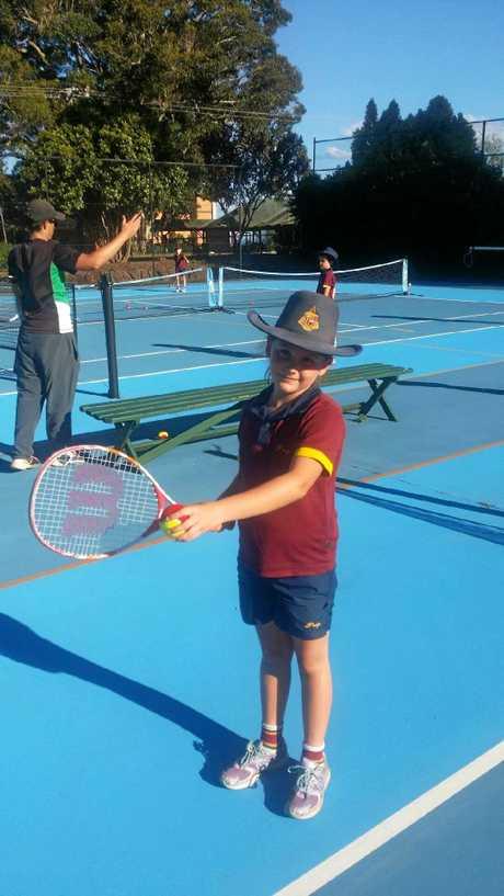 Red Ball Tennis Toowoomba Fixture Player Zara Speed.