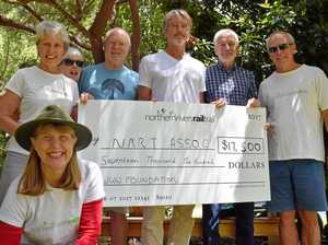 Why did this American donate $17k to the rail trail?