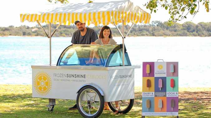 COOL IDEA: Jamie Dalton and his wife Natalie are behind Frozen Sunshine Iceblocks.