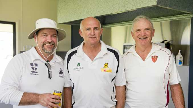 Having fun are (from left) Alistair Webb, Paul Lindsay and Ian Reimers.