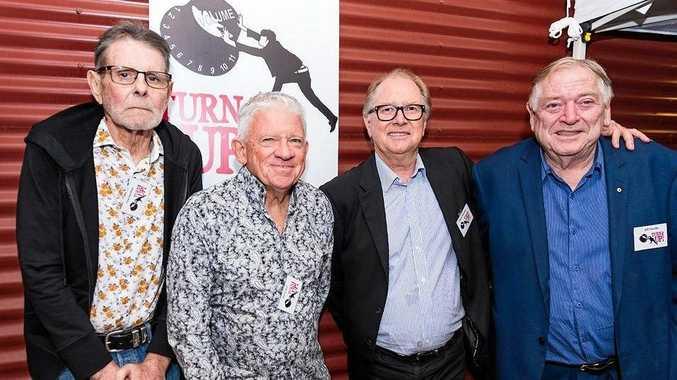 MOTLEY CREW: Ted Gardner, Barry Bull, Glenn Wheatley and Bill Hauritz.