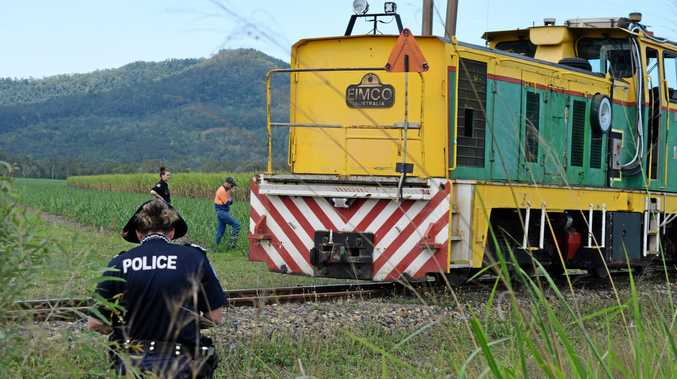 Police investigate the death of a cane train worker near Mirani.