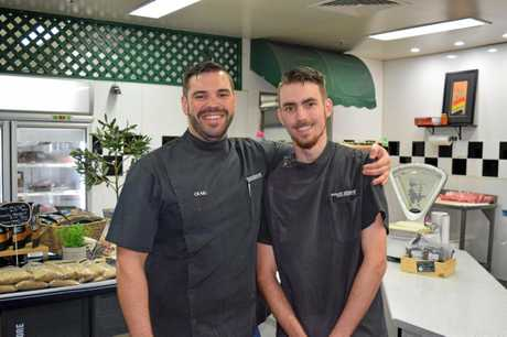 Mount Pleasant Meat Specialists owner Craig Stewart and his apprentice Anthony Palmer-Field.