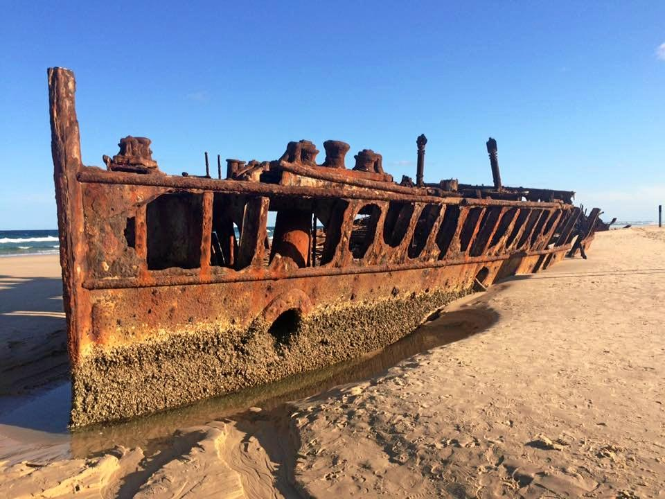 The Maheno wreck on Fraser Island.