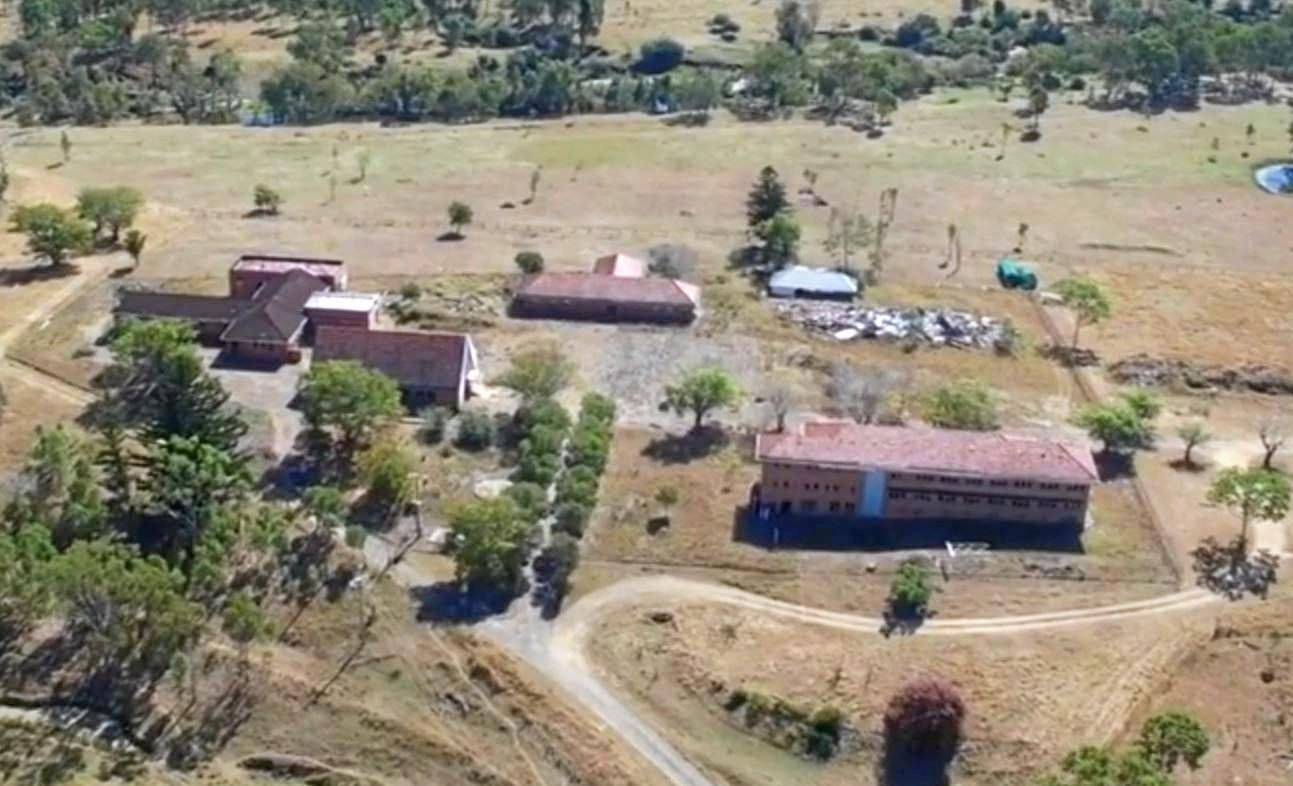 CHEQUERED PAST: Drone footage of the Neerkol Orphanage showing the remaining buildings with the two far left chosen to be developed.