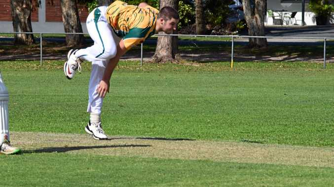 Cudgen opening bowler Connor Ziebell in FNC LJ Hooker League cricket.