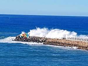 Low pressure system gives our waves plenty of power