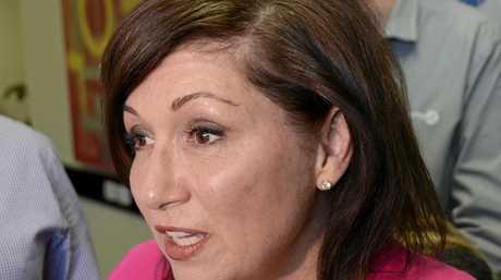 MORE PROMISES: Minister for Innovation Leeanne Enoch speaks in Toowoomba about 1300 Web Pro's FridgeBrain technology.