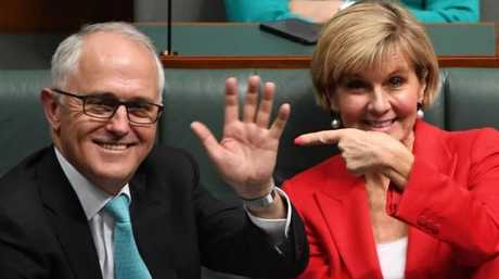 Prime Minister Malcolm Turnbull and Foreign Minister Julie Bishop. Picture: Dean Lewins/AAP