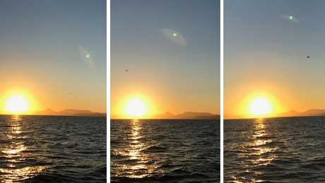 Jenny Morrison photographed this UFO with her iPhone, off Fitzroy Island, on Saturday afternoon. WHAT IS IT????