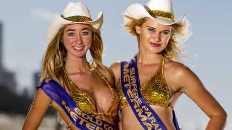 Surfers Paradise Meter Maids, Martina Medus and Jenny Blankenstein. Picture: Jerad Williams