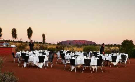 Uluru Feastival dinner under the stars. Picture: Ayers Rock Resort