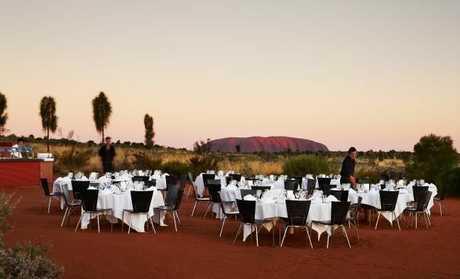 Uluru Feastival dinner under the stars. Picture: Ayers Rock Resort