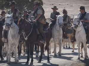 Australian soldies reenact Battle of Beersheba