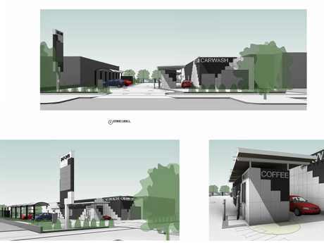 A drive-thru coffee shop and car wash has been approved in Toowoomba.
