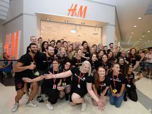 'It's madness': 500 shoppers celebrate Rocky H&M opening