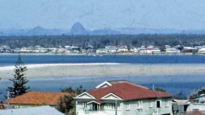 The view over homes at Bulcock Beach towards Golden Beach in 1962.