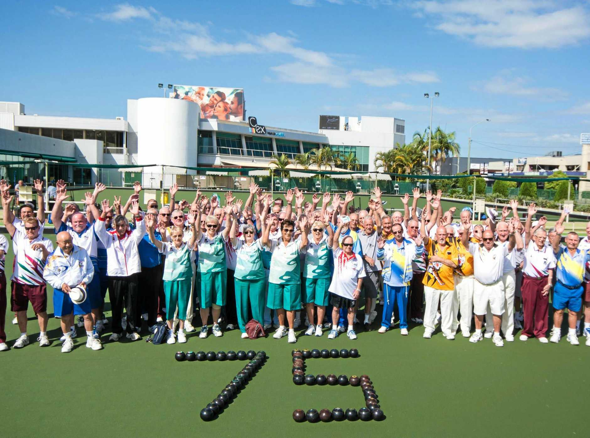 75 YEARS YOUNG: The C.ex Coffs Mens Bowls Club celebrated its 75 year anniversary during the week.