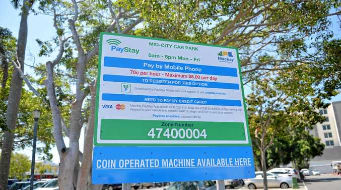 A sign at the Mid-City Car Park on the corner of Gregory and Gordon Sts has caused confusion with users calling the zone number instead of the parking hotline.